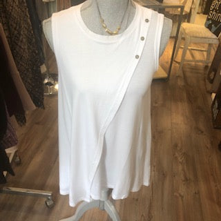 Button Neck Crossover Top Size XS