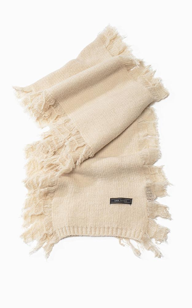 Super Soft Cashmere Blend Fringe Scarf by Look by M