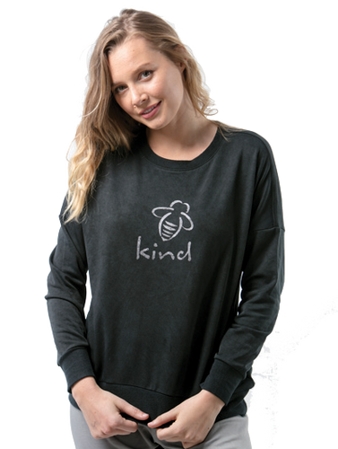 Bee Attitudes Kind Long Sleeve Sweatshirt Activewear Top