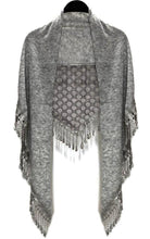 Load image into Gallery viewer, Lace Triangle Scarf w/Tassel