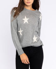 Load image into Gallery viewer, Gray Star Sweater