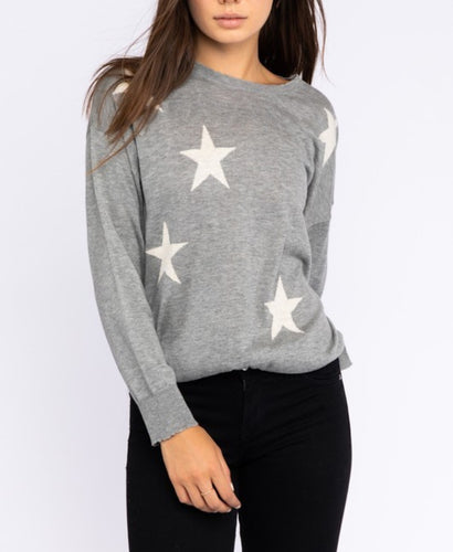 Gray Star Sweater