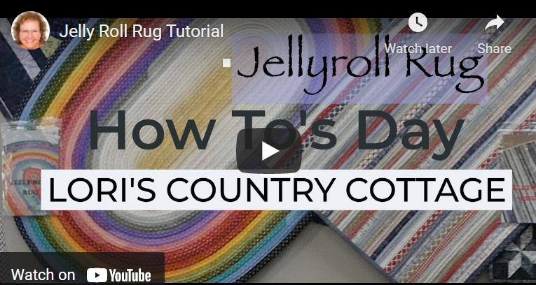 Jelly Roll Rug Tutorial