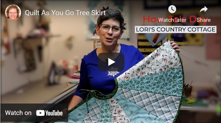 Quilt As You Go Tree Skirt