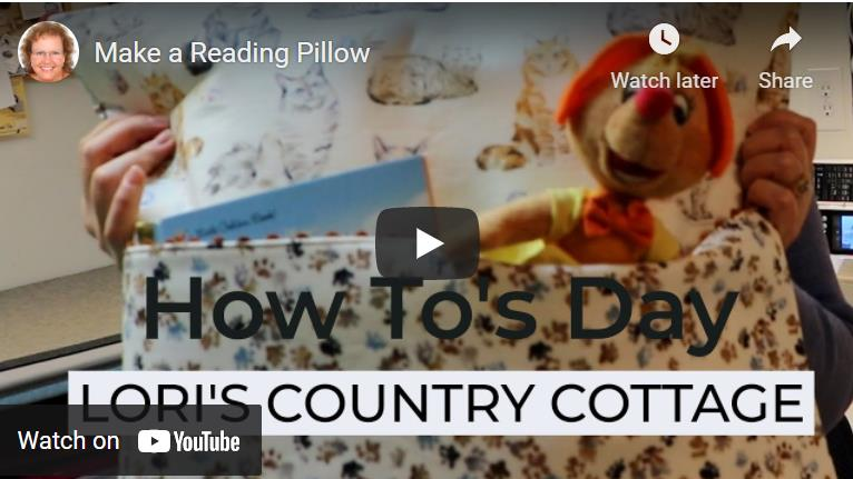 Make A Reading Pillow