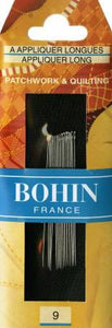 Bohin Applique Long Needles Size 9