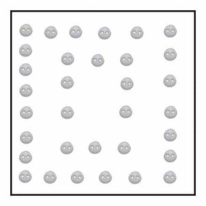 Buttons, Micro Mini White-Round - 9747070