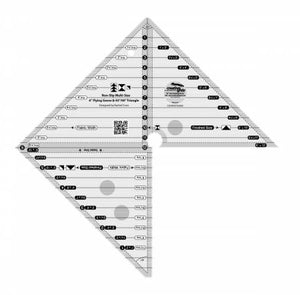 "Creative Grid 6""  Flying Geese & 45 90 Degree Triangle Ruler CGRMSFG4590"