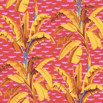KAFFE FASSETT  Banana Tree-Red - PWGP179.RED