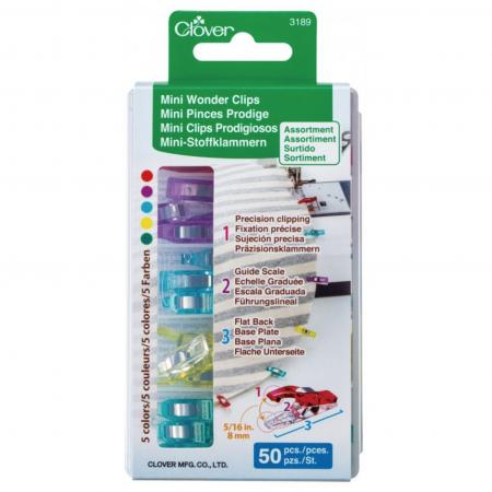 Mini Wonder Clips - Assorted 50 count - 3189CV