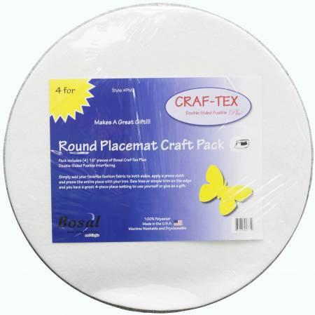 Placemat Craft Pack 16in Round 4pk - PM-38