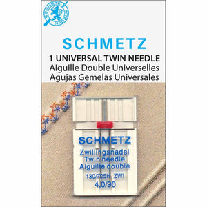 SCHMETZ Twin Needle Carded - 90/14 - 4.0mm - 1 count