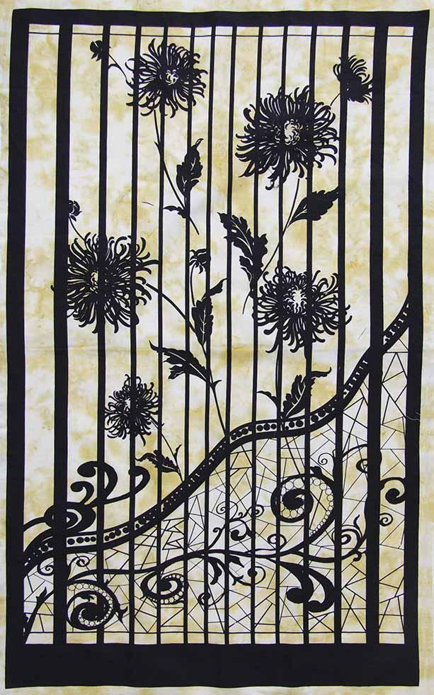 Shattered Garden by Banyan Batiks - Panel - Gold
