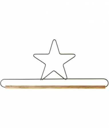 Star Decorative Craft Hanger w/1/4in Dowel Gray - 7 1/2