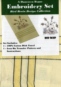 Towel Embroidery Set 1  Bee Skep - 205-104