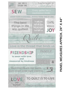 Words To Quilt By - Panel - Multi - 16970-99
