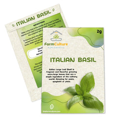 Italian Leaf Basil Seeds - Your Complimentary Seed - Farm Culture