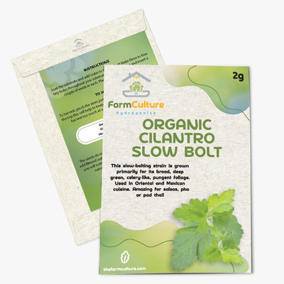 Organic Cilantro Slow Bolt Seeds - Farm Culture