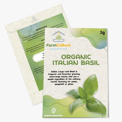 Organic Italian Leaf Basil Seeds - Farm Culture