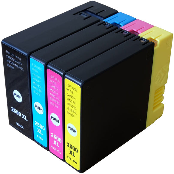 Canon PGI2500XL Value Pack Compatible Ink Cartridges