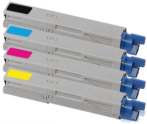 OKI C3450 Series Compatible Toner Cartridge Value Pack x 4