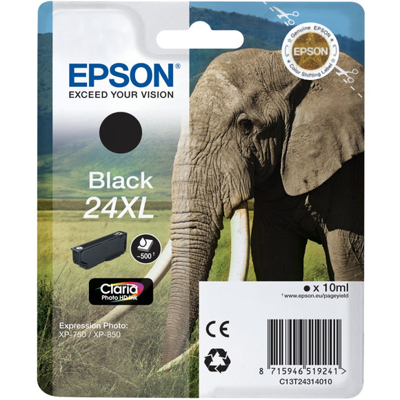 Epson 24XL Elephant Black Ink Cartridge