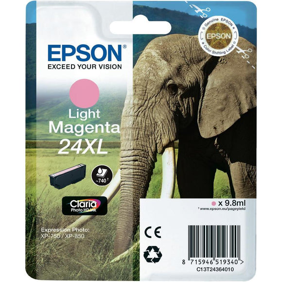 Epson 24XL Elephant Light Magenta Ink Cartridge