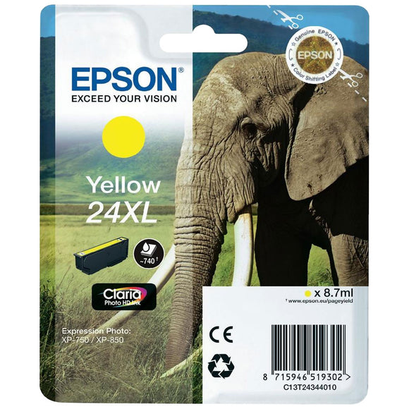 Epson 24XL Elephant Yellow Ink Cartridge