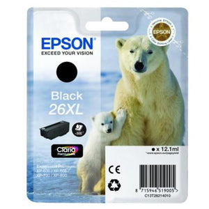 Epson T2621 26XL Hi Capacity Black Ink Cartridge