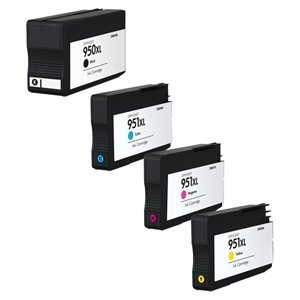 HP 951/50XL Black,Cyan,Magenta & Yellow Compatible Ink Cartridge Value Pack