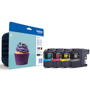Brother LC123 Value Pack BK,C,M & Y Ink Cartridges