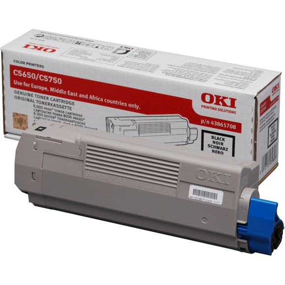 OKI C5650 Series Black Toner Cartridge