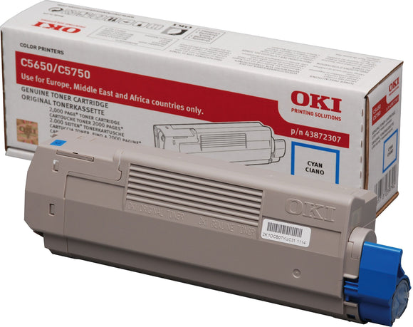 OKI C5650 Series Cyan Toner Cartridge