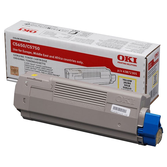 OKI C5650 Series Yellow Toner Cartridge