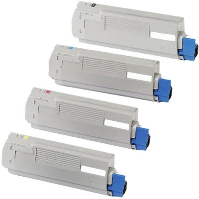 OKI C5800 Series Compatible Toner Cartridge Value Pack x 4