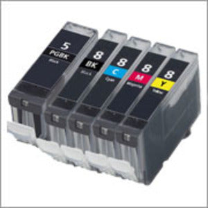 Canon PGi5 Black & CLi8 BK,C,M,Y x 5 Compatible Cartridge Set