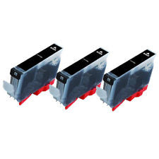 Canon Cli8 Black Compatible Ink Cartridge x 3