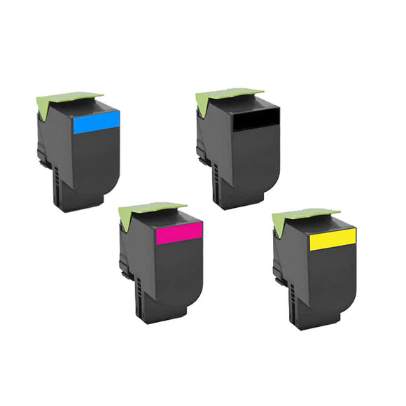 Lexmark CX410 Multipack x4 Toner Compatible Cartridges