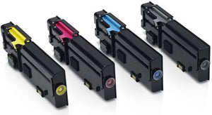 Dell 2660 Hi Yield Compatible Toner Cartridges x 4 Value Pack