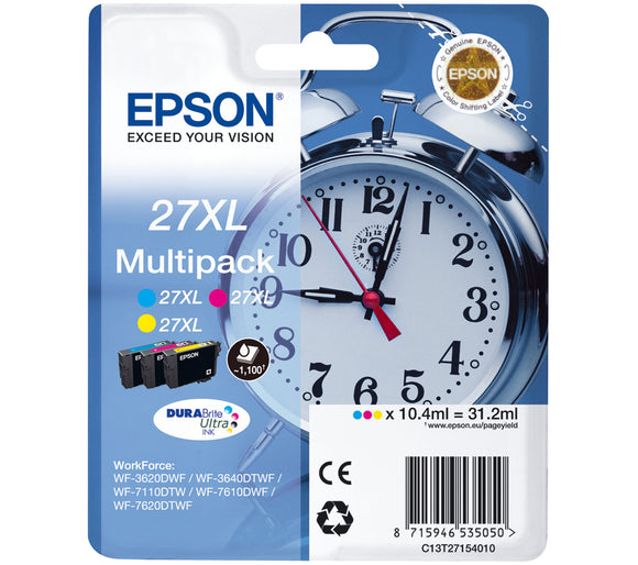 Epson Clock 27XL Ink Cartridge 4 Pack
