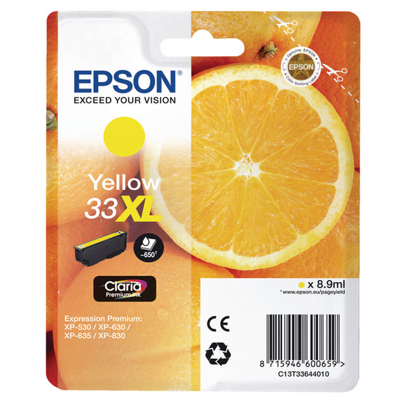 Epson 33XL Yellow Ink Cartridge