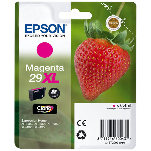 Epson 29XL (T2993) Hi Capacity Magenta Ink Cartridge