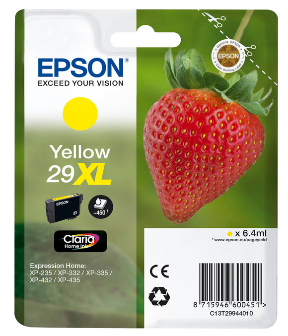 Epson 29XL (T2994) Hi Capacity Yellow Ink Cartridge