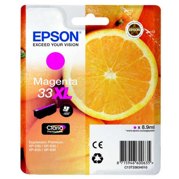 Epson 33XL Magenta Ink Cartridge