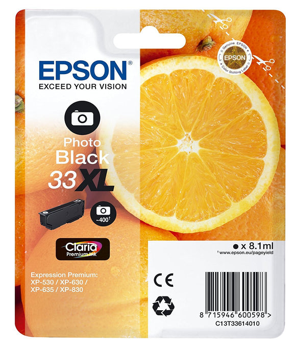 Epson 33XL Photo Black Ink Cartridge