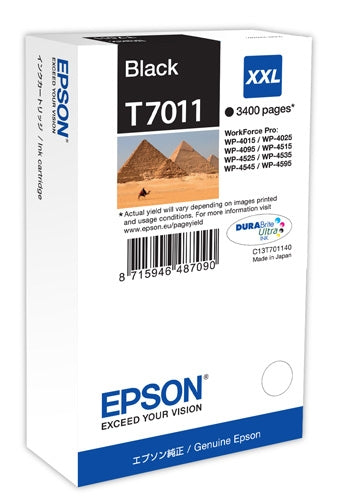 Epson T7011 Hi Capacity Black Ink Cartridge
