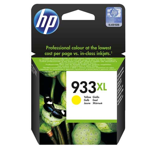Hewlett Packard 933XL (CN056AE) Hi Capacity Yellow Ink Cartridge