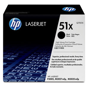 Hewlett Packard Q7551X Hi Capacity Black Toner Cartridge