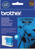 Original Genuine Brother LC1000 Cyan Ink Cartridge
