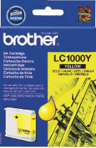 Original Genuine Brother LC1000 Yellow Ink Cartridge